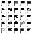 set black icons flags vector image vector image