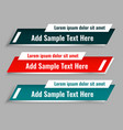 set lower third template in three colors vector image vector image