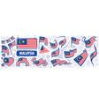 set national flag malaysia vector image