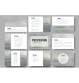 Set of 9 templates for presentation slides Gray vector image vector image