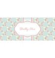 shabby chic card design vector image vector image