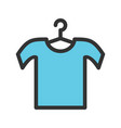 shirt on hanger vector image