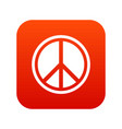 sign hippie peace icon digital red vector image vector image