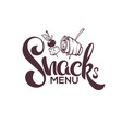 snack menu image of hand drawn appetizers and