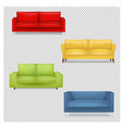 sofa big collection isolated transparent vector image vector image