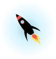 space rocket flight icon vector image