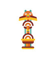 tribal totem native religious cultural tribal vector image vector image