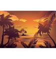 Tropical Island at Sunset2 vector image vector image