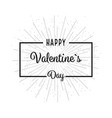 valentine day background flat design vector image vector image