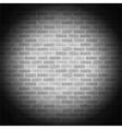 Vintage gray brick wall vector image vector image