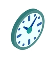 Wall clock icon isometric 3d style vector image vector image