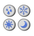 weather blue icon vector image vector image