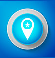 white map pointer with star icon isolated vector image vector image