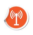 wi fi icon orange sticker vector image vector image