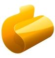 Yellow file folder vector image