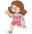 a cute girl character vector image vector image