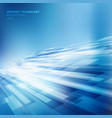 abstract blue lines overlap layer business shiny vector image vector image