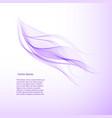 abstract color wavy lines purple color vector image vector image
