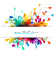 Abstract colored background with leafs and place vector image vector image