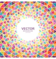 Abstract colorful triangle background with place vector image vector image