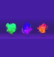 abstract design set liquid shapes vector image