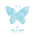 abstract swirls butterfly silhouette pattern frame vector image vector image