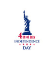 american national holiday 4th of july vector image vector image