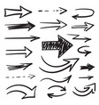 arrows painted marker for your design vector image vector image