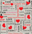 background to the day of lovers in vintage style w vector image vector image