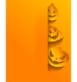 Background with stickers for Halloween vector image vector image