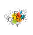 be creative template for a text vector image