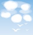 Birds and clouds vector image