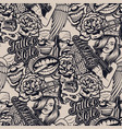 black and white pattern on tattoo for white vector image vector image