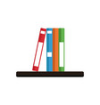 books on shelf vector image vector image