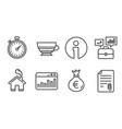 business portfolio money bag and marketing vector image