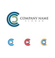 c letter logo template vector image vector image