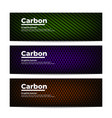 carbon fiber banners template vector image