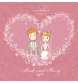 Cartoon concept marriage vector image