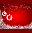 christmas background with santa bareindeer vector image vector image