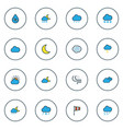 climate icons colored line set with freeze vector image vector image