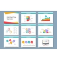 Colorful set of templates for multipurpose vector image vector image