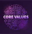 company core values round creative linear vector image vector image