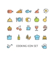 Cooking Colorful Outline Icon Set vector image