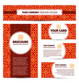 corporate identity with red chinese pattern vector image vector image