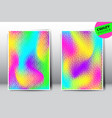 crazy holographic gradient templates vector image vector image