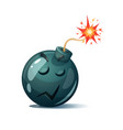 cute funny crazy - cartoon bomb character vector image vector image