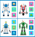 cybers collection robots vector image vector image