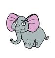 Elephant african savannah cartoon vector image vector image
