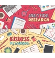 Flat business planning analytical research vector image