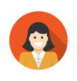 flat business woman user profile avatar icon